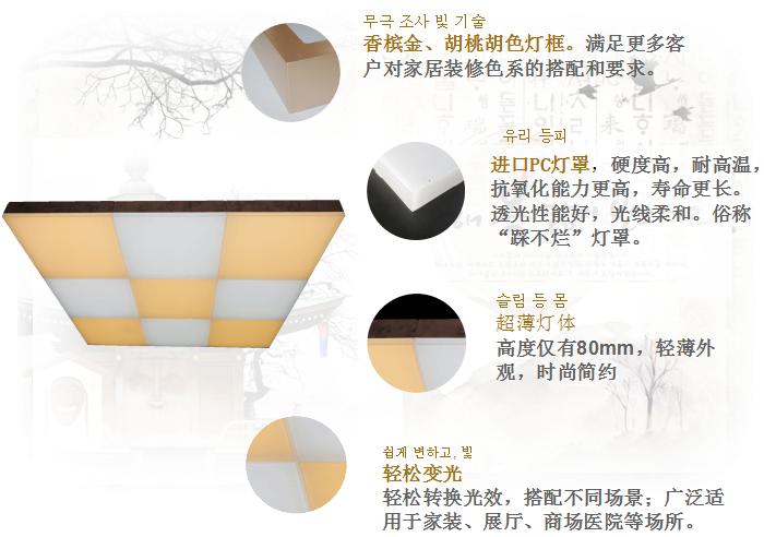 現代簡約燈具魔方系列產品賣點